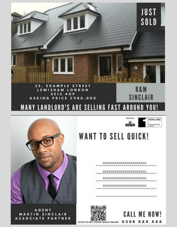 Estate Agent Postcard Marketing