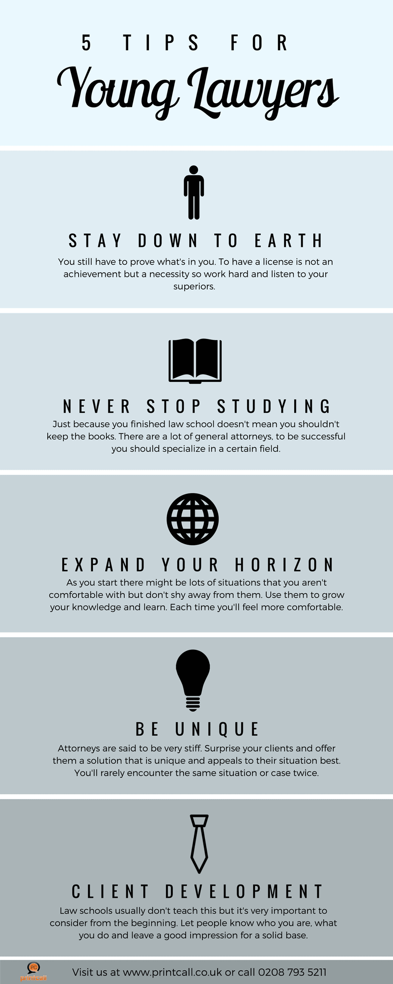 5 tips for young lawyers - infographic